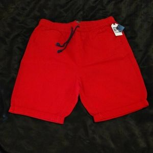 Men's red shorts